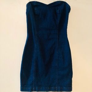Forever21 Denim Tube Top Mini Dress